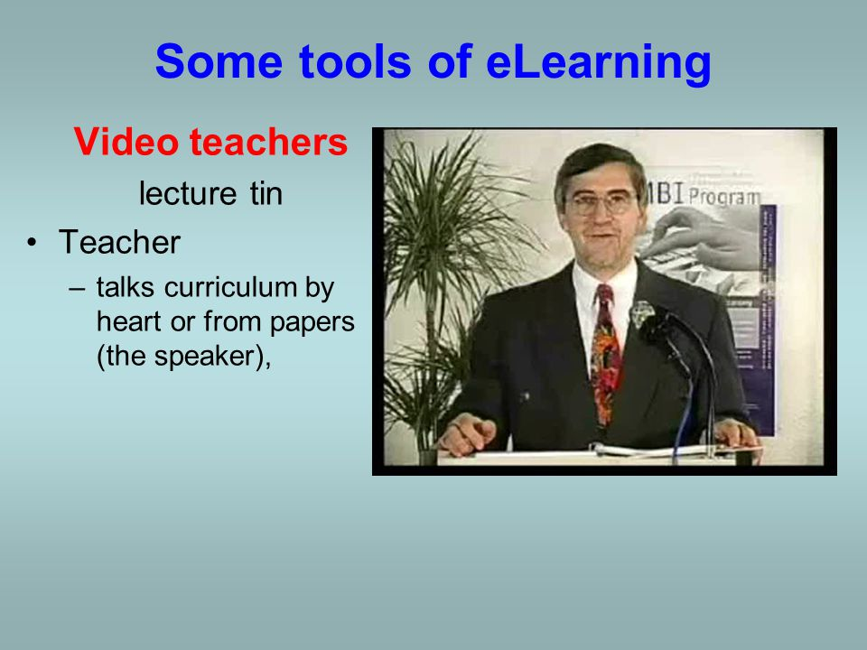 SmartBoard Lecturer helps focus attention, clarify concepts and save time, can invite learners to try tasks themselves at the front of the room, can use digital ink to highlight key information and reinforce concepts, Some tools of eLearning