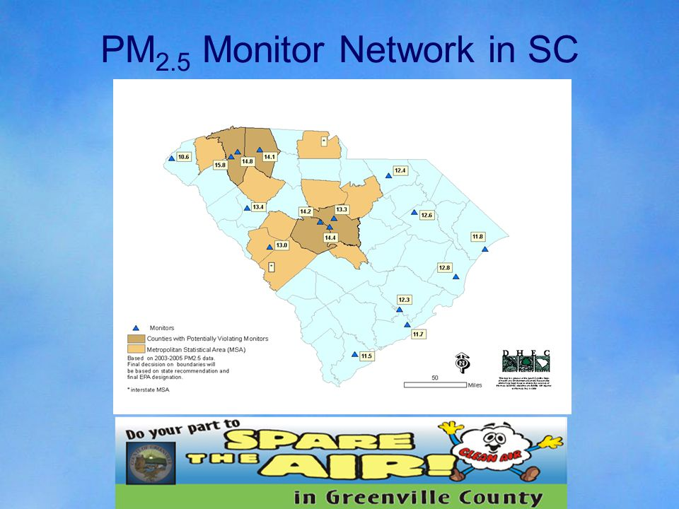 PM 2.5 Monitor Network in SC