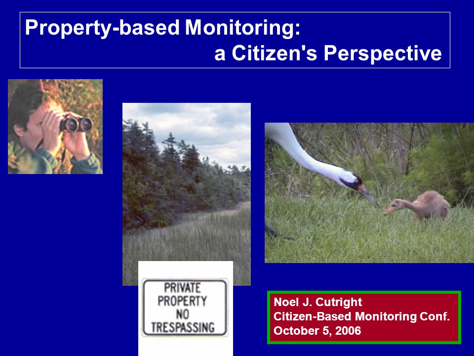Property-based Monitoring: a Citizen s Perspective Noel J.