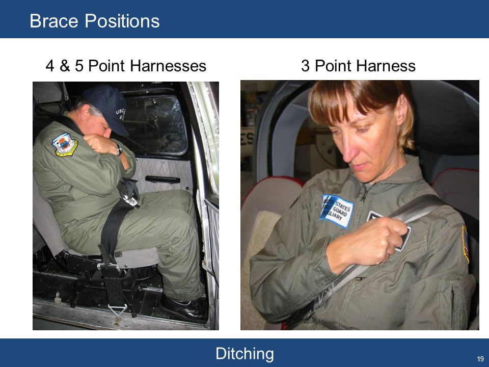 Ditching Brace Positions 19 4 & 5 Point Harnesses3 Point Harness