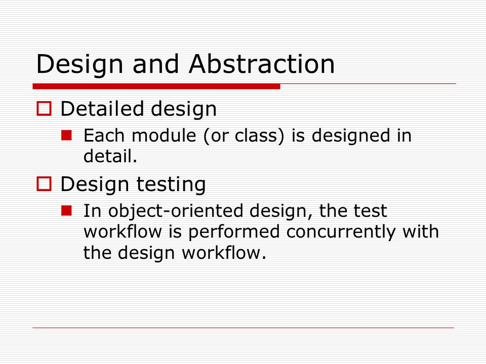 Operation-Oriented Design: Data Flow Analysis  Using the points of highest abstraction of input and output, the product is decomposed into three modules: input_module transform_module output_module