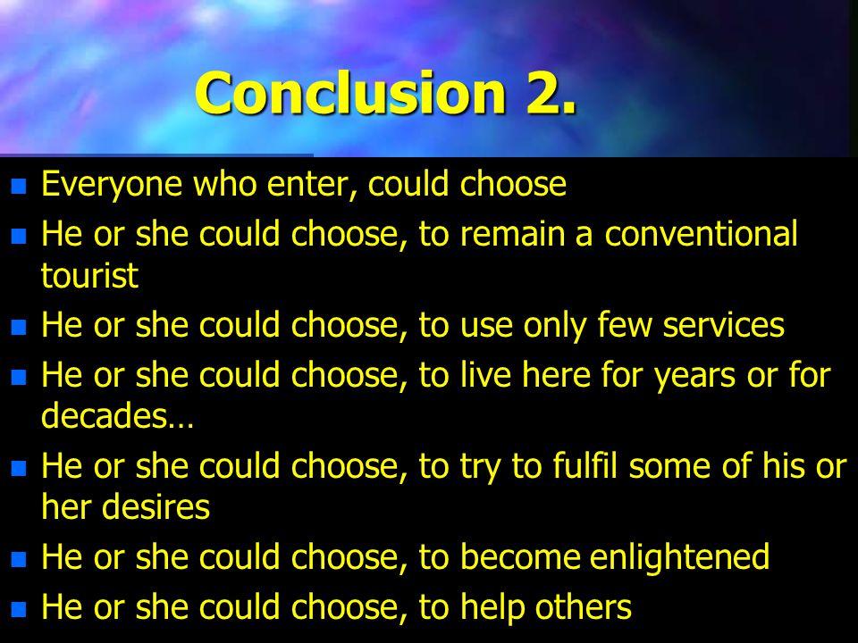 Conclusion 2.