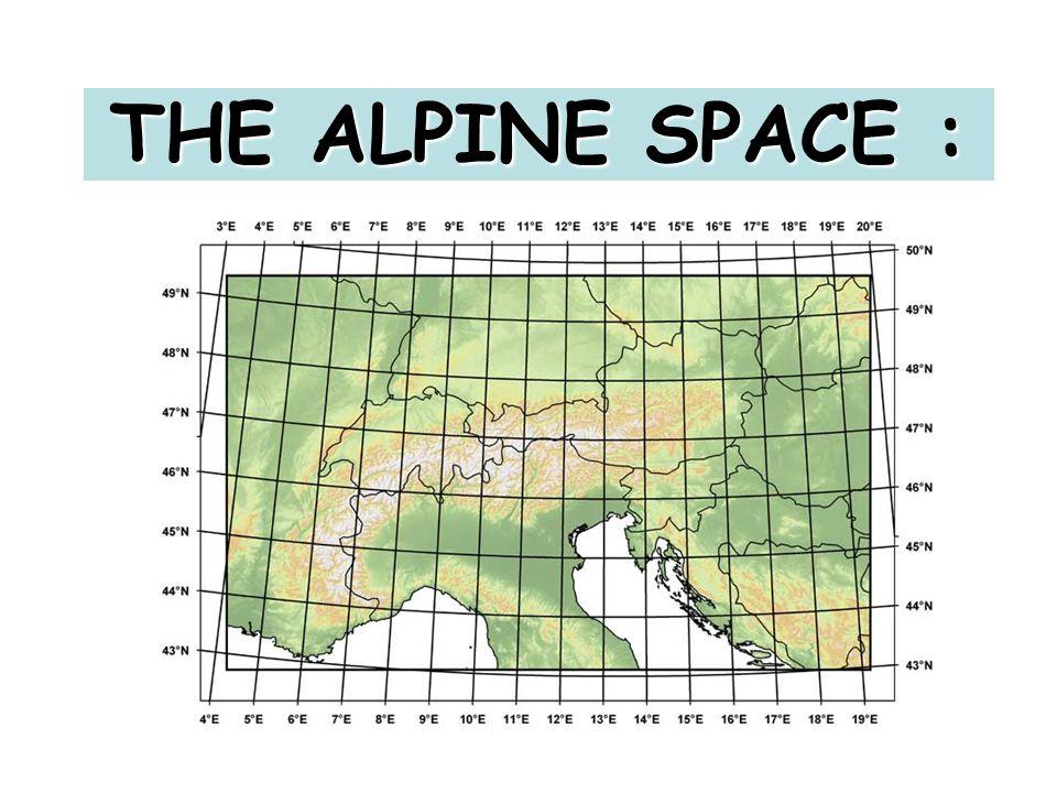 THE ALPINE SPACE :