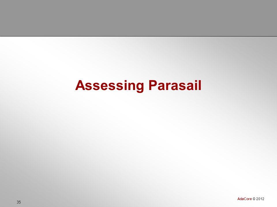 AdaCore © 2012 35 Assessing Parasail