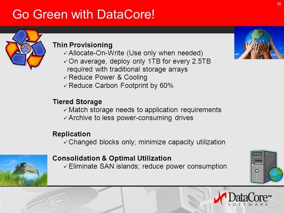 10 Go Green with DataCore.