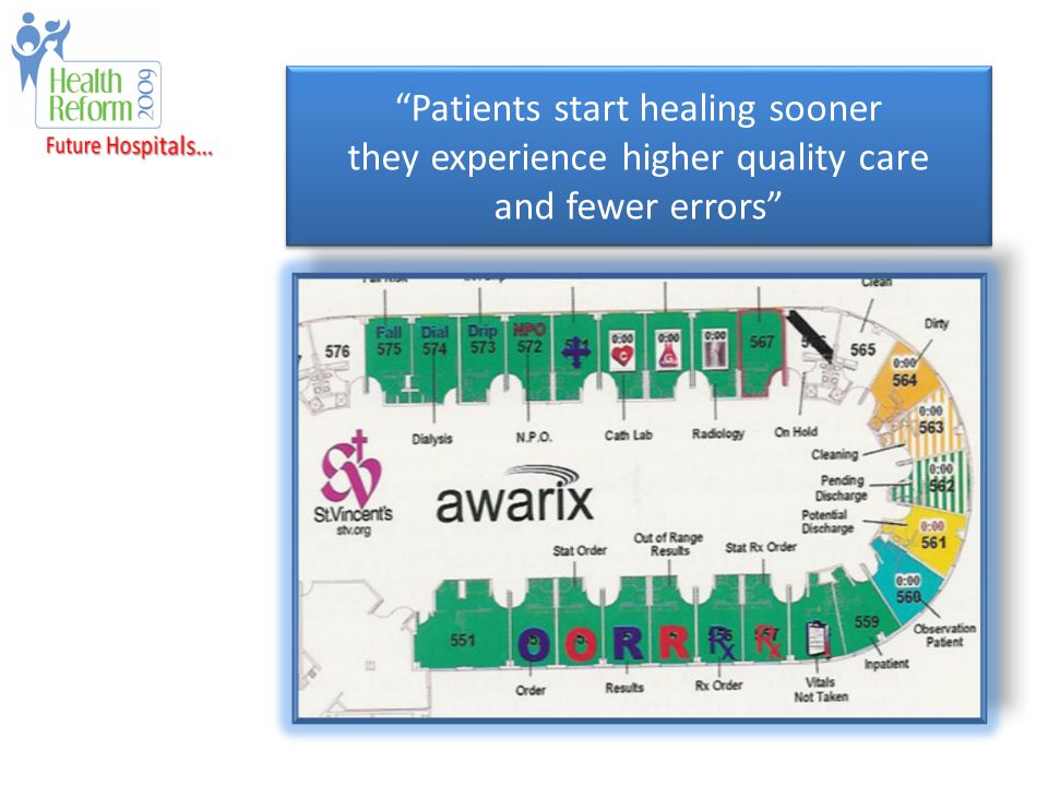 Patients start healing sooner they experience higher quality care and fewer errors