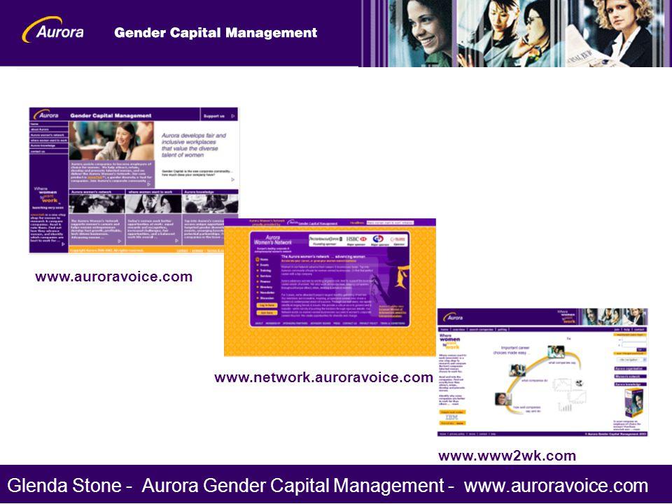 www.auroravoice.com www.network.auroravoice.com www.www2wk.com Glenda Stone - Aurora Gender Capital Management - www.auroravoice.com