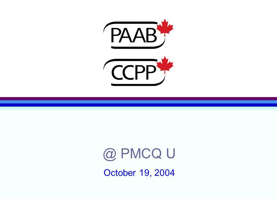 @ PMCQ U October 19, 2004