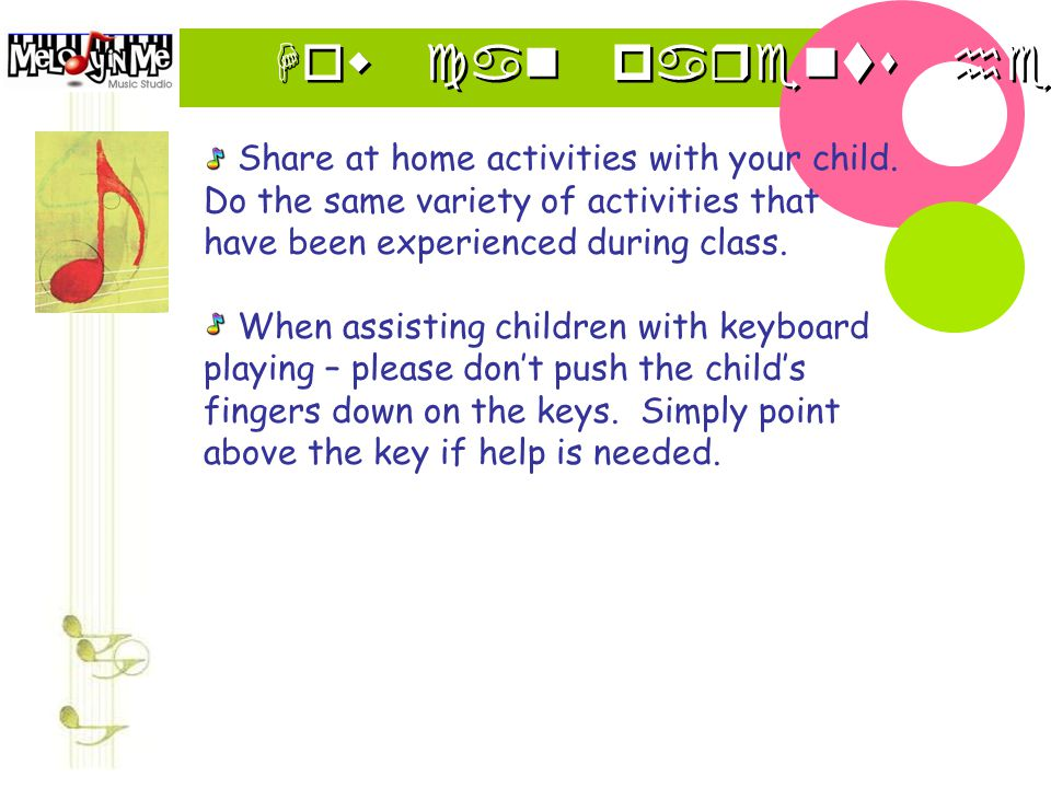How can parents help Share at home activities with your child.