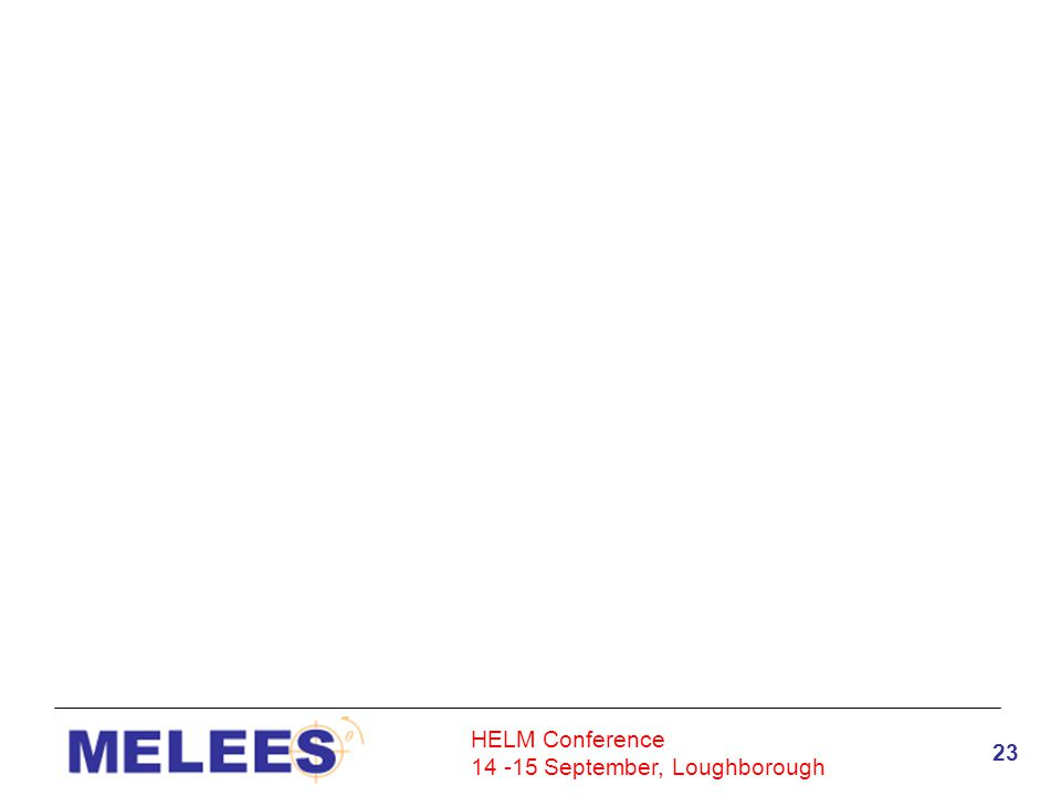 HELM Conference 14 -15 September, Loughborough 23