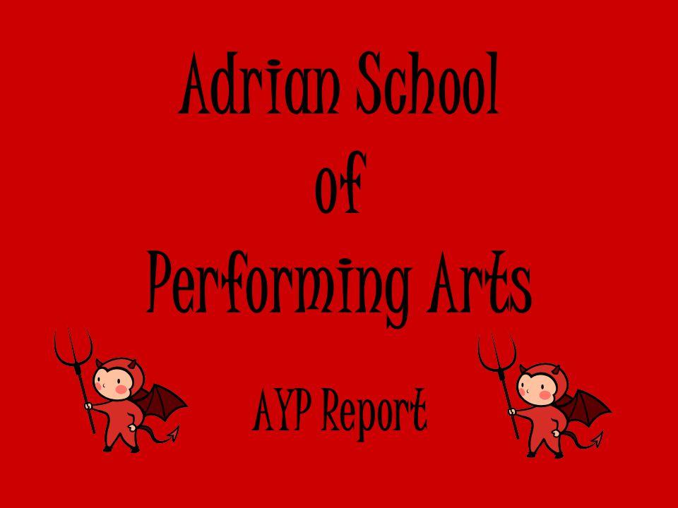 Adrian School of Performing Arts AYP Report
