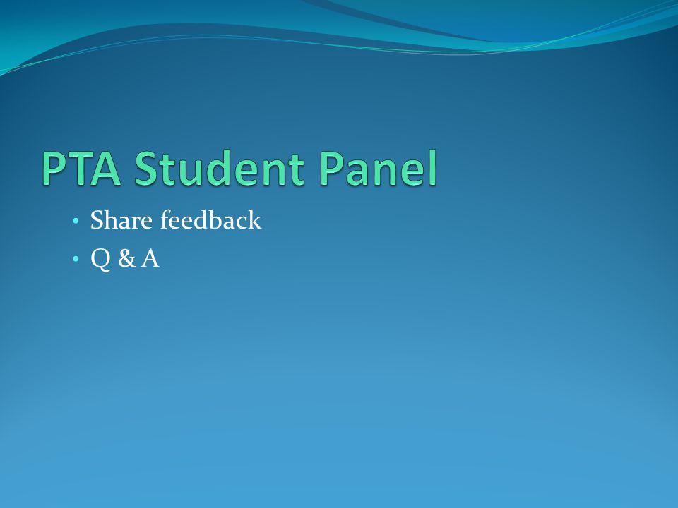 Share feedback Q & A
