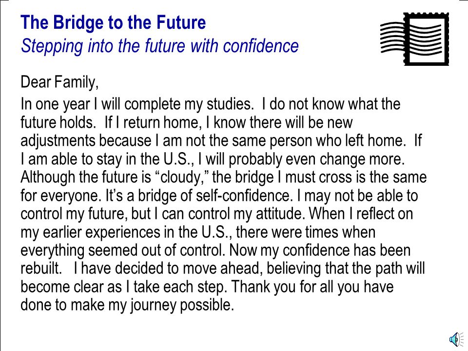 Postcards from the U.S. The Bridge to the Future