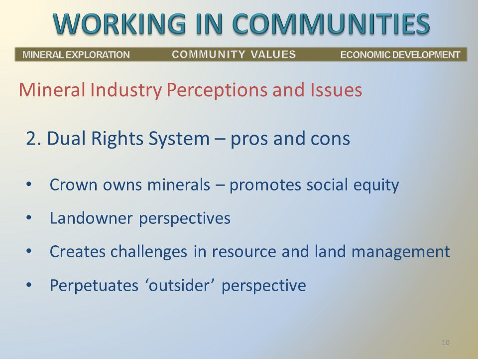 Mineral Industry Perceptions and Issues 2.