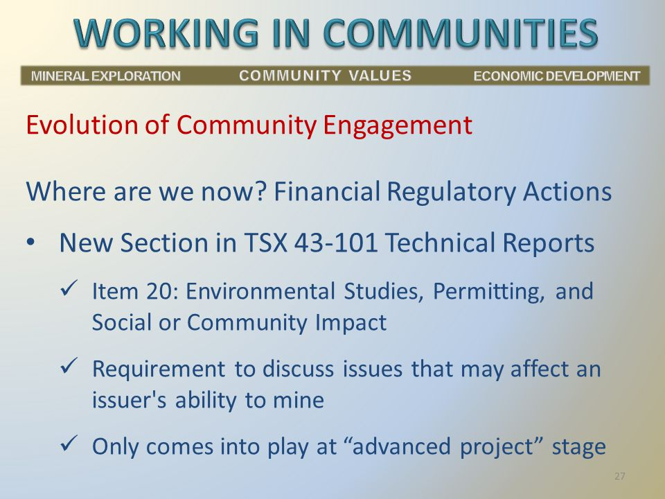 Evolution of Community Engagement Where are we now.