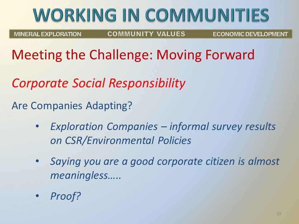 Corporate Social Responsibility Are Companies Adapting.