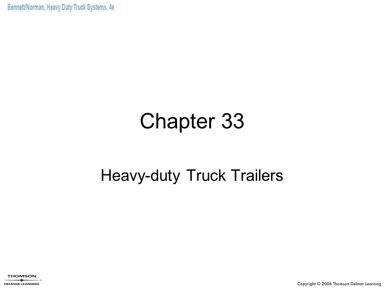 Chapter 33 Heavy-duty Truck Trailers