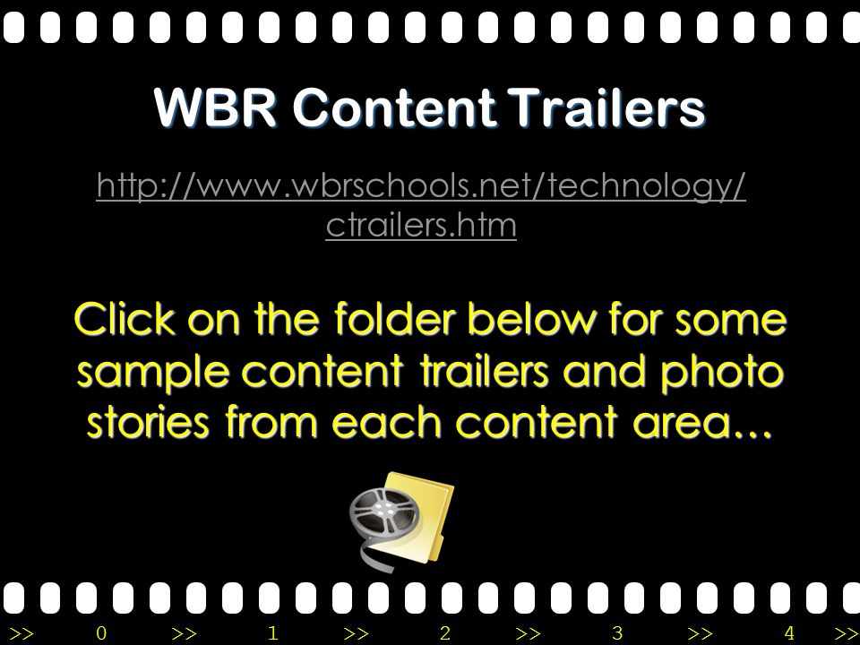 >>0 >>1 >> 2 >> 3 >> 4 >> You have created your Content Trailer!