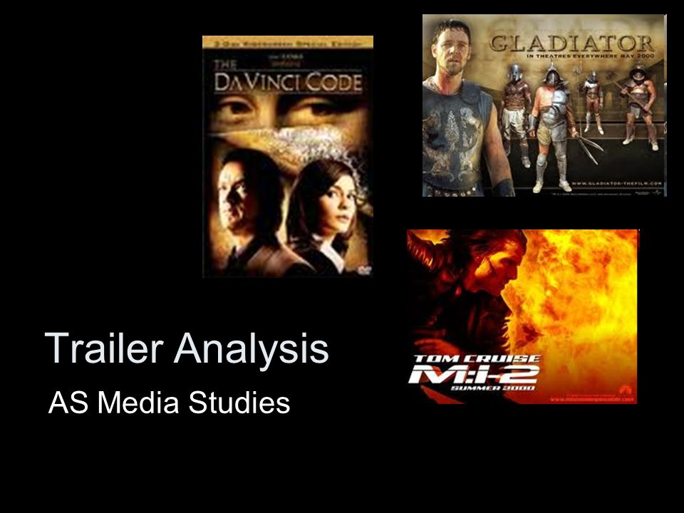 Trailer Analysis AS Media Studies