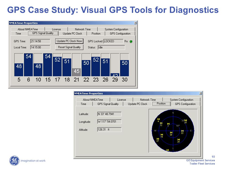 10 GE Equipment Services Trailer Fleet Services GPS Case Study: Visual GPS Tools for Diagnostics