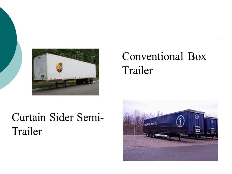 Conventional Box Trailer Curtain Sider Semi- Trailer