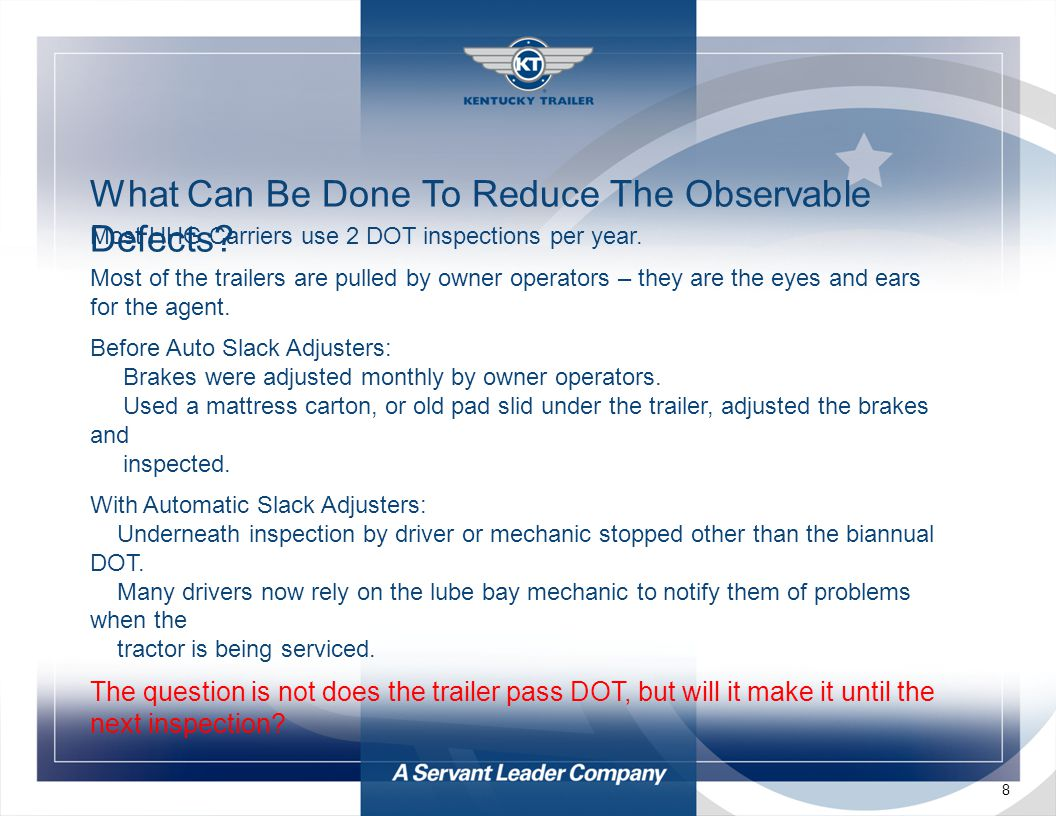 8 What Can Be Done To Reduce The Observable Defects.