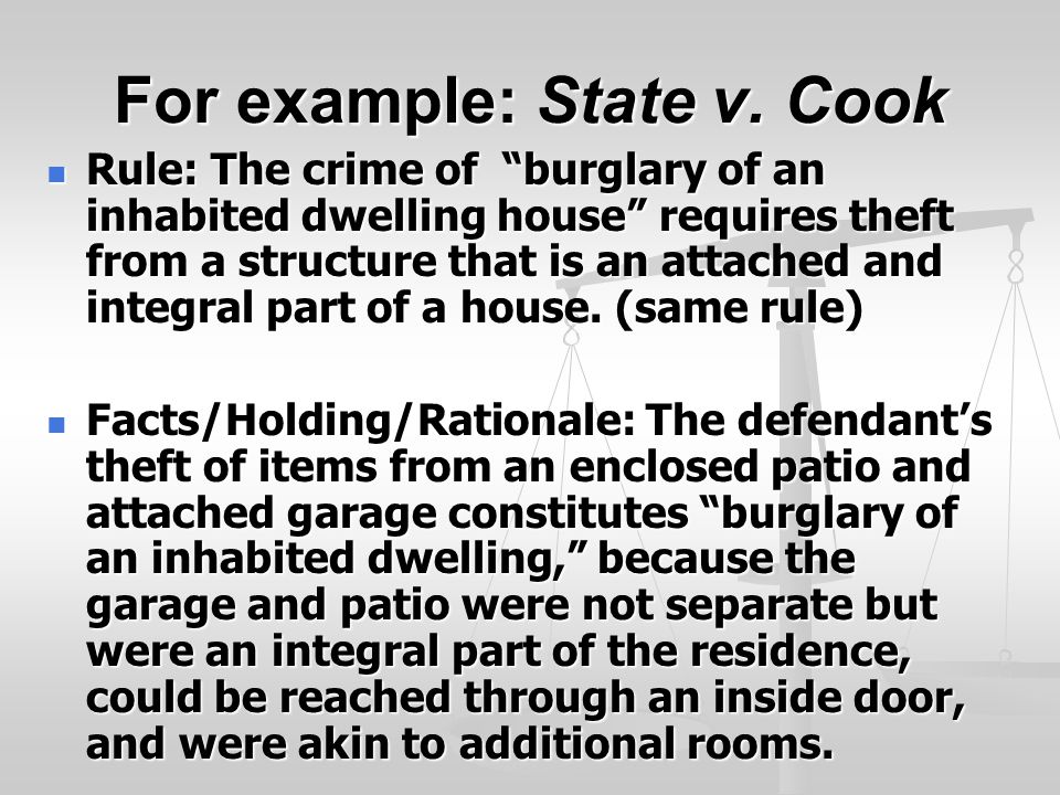 For example: State v.