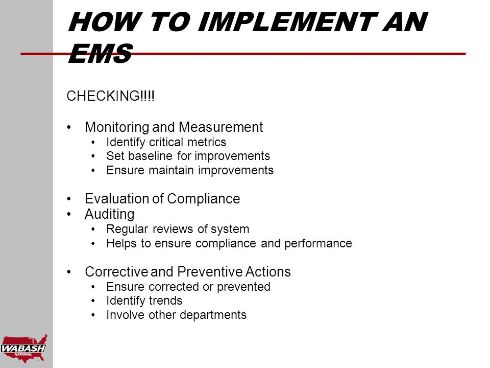 HOW TO IMPLEMENT AN EMS CHECKING!!!.