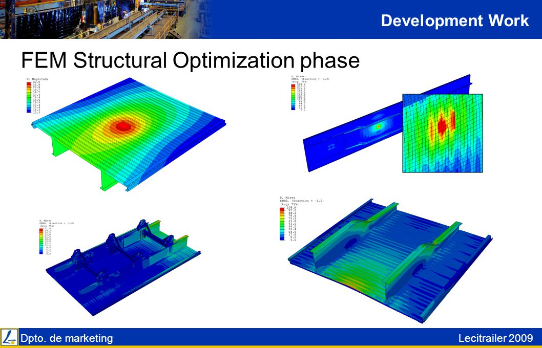 Dpto. de marketingLecitrailer 2009 FEM Structural Optimization phase Development Work