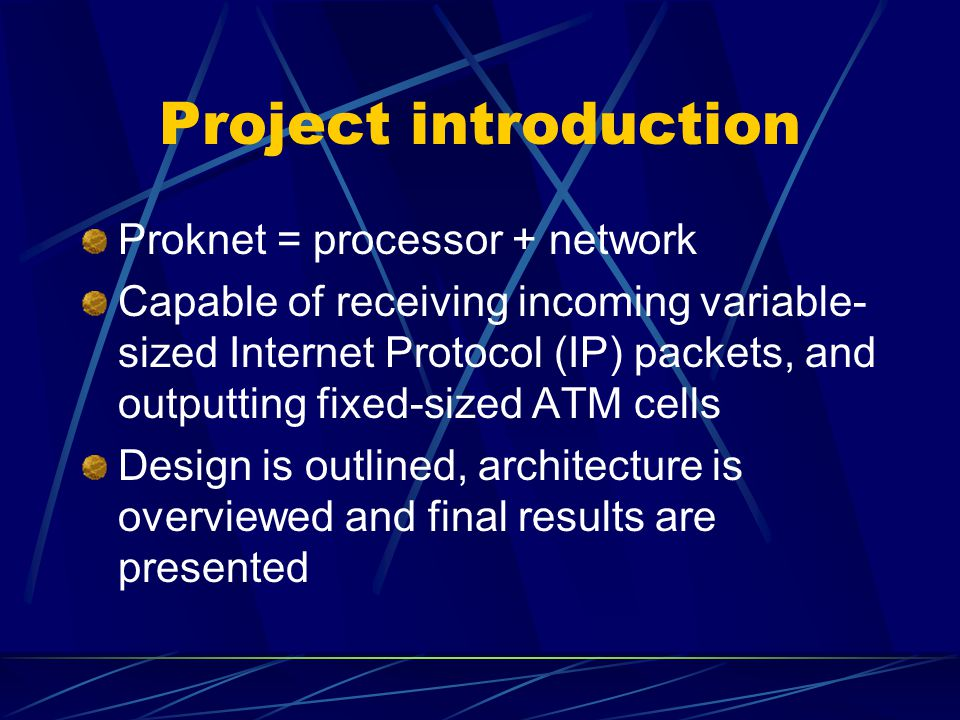 Presentation Outline (2) Module architecture/functionality TLL module ALU module Trailer module CRC module SAR module CU module Achievements Limitations / Future work Summary