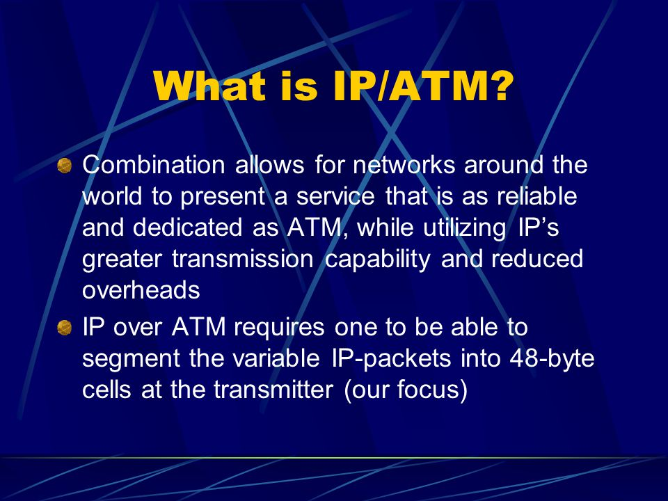 What is ATM.