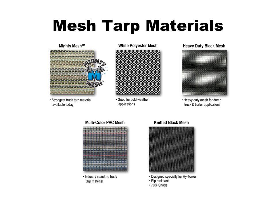 Mesh Tarp Materials