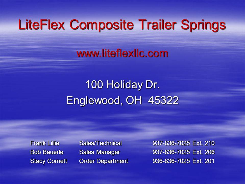 LiteFlex Composite Trailer Springs www.liteflexllc.com 100 Holiday Dr.