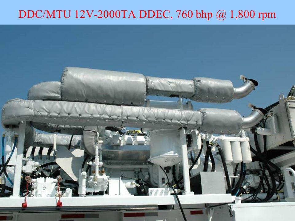 DDC/MTU 12V-2000TA DDEC, 760 bhp @ 1,800 rpm