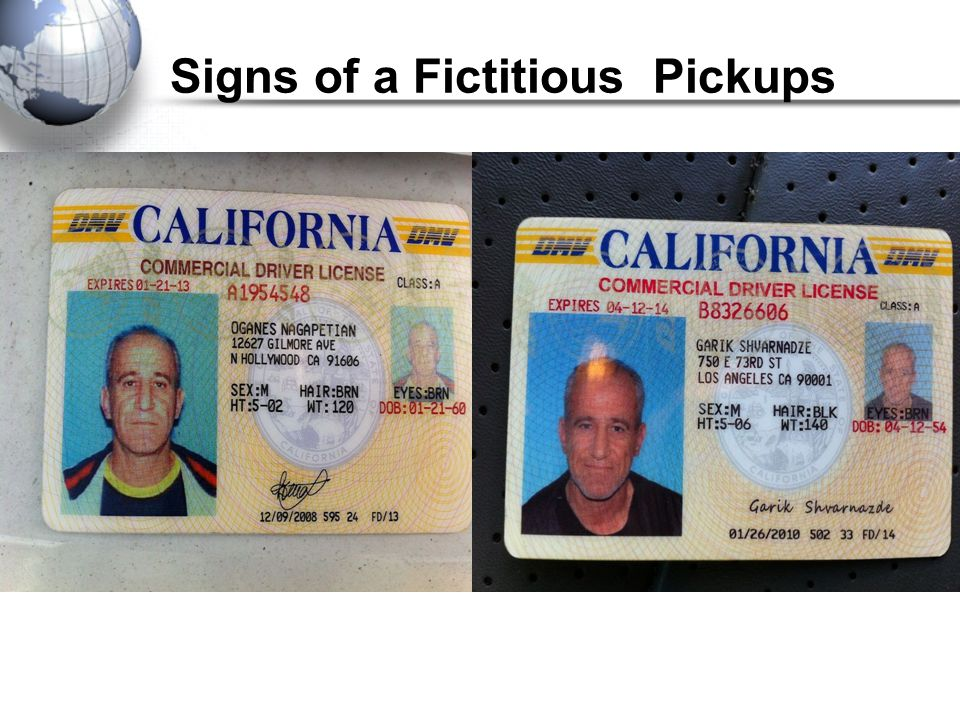 Signs of a Fictitious Pickups