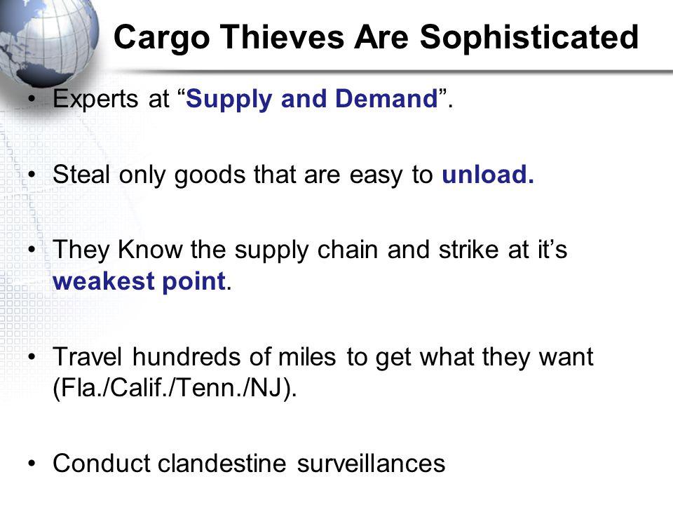 2011 Cargo Theft Data – United States Statistics 2011 - 974 Cargo thefts vs.