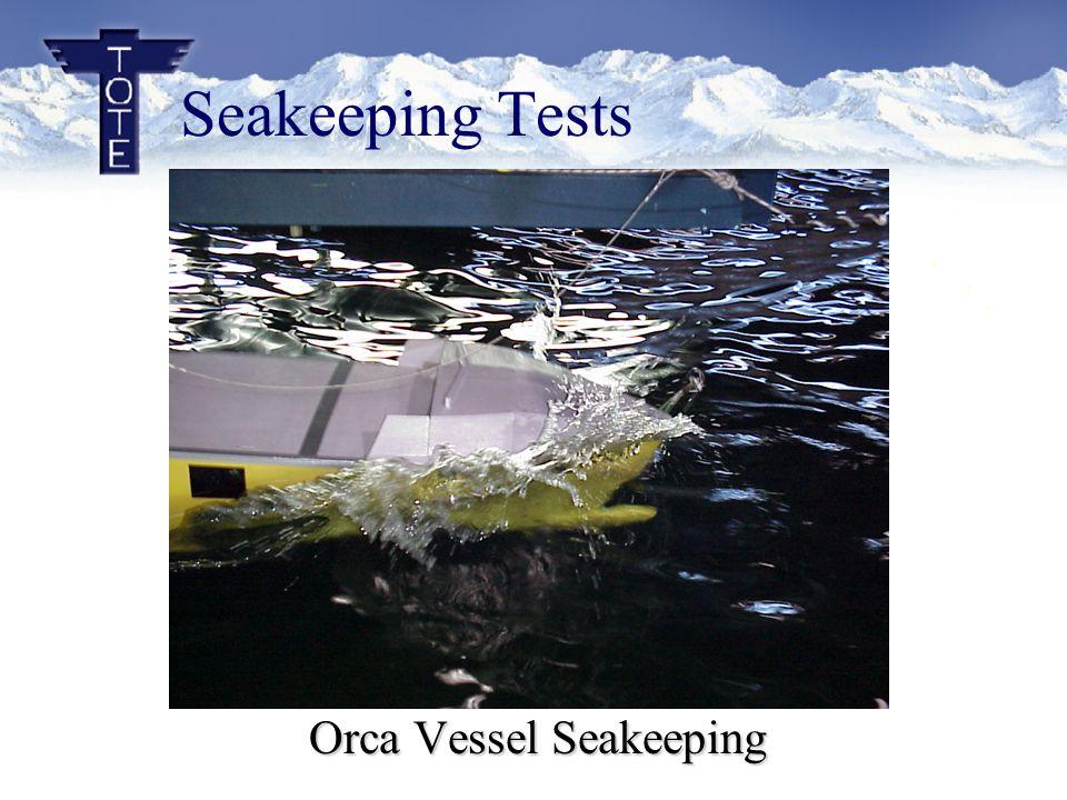 Seakeeping Tests Orca Vessel Seakeeping