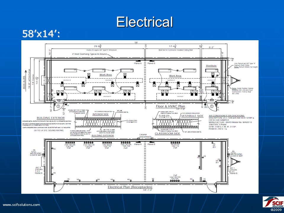  2009 www.scifsolutions.com Electrical 58'x14':