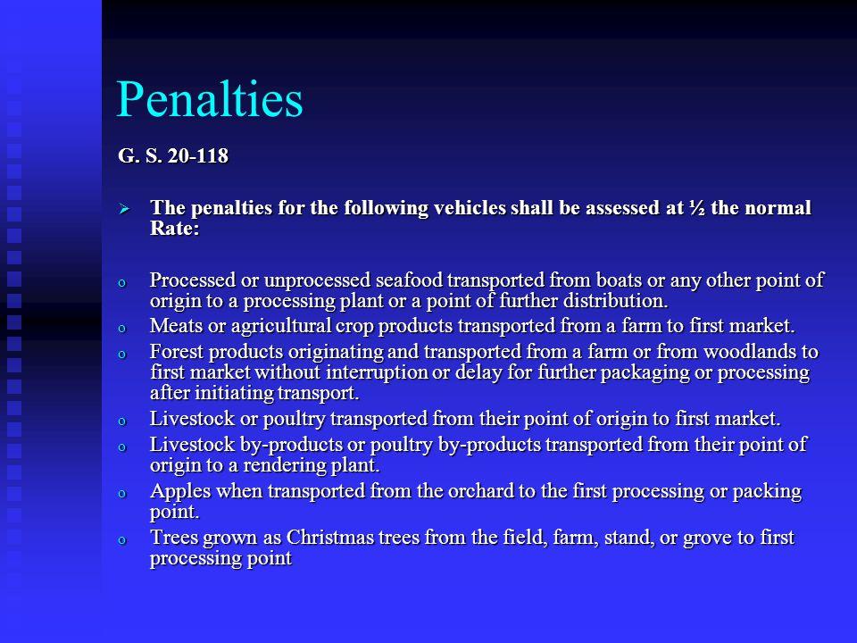 Penalties G. S.