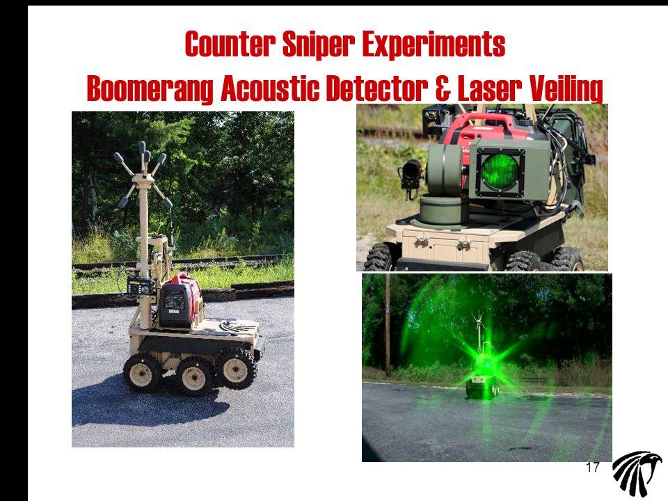 17 Counter Sniper Experiments Boomerang Acoustic Detector & Laser Veiling