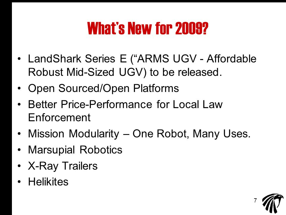 7 What's New for 2009.
