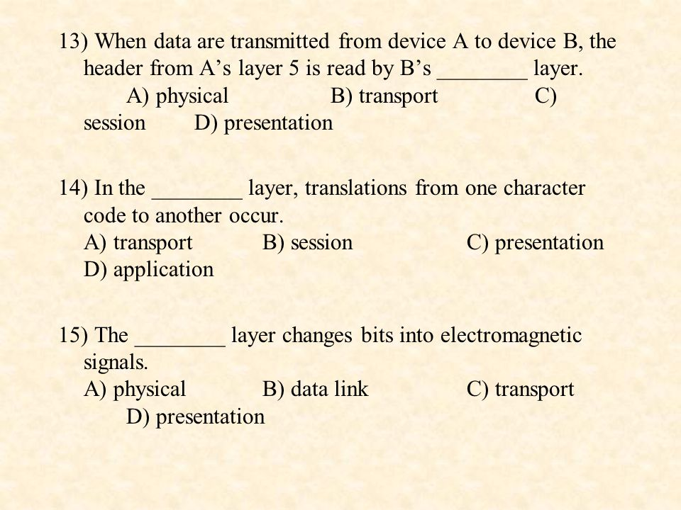 16) The ________ layer can use the trailer of the frame for error detection.