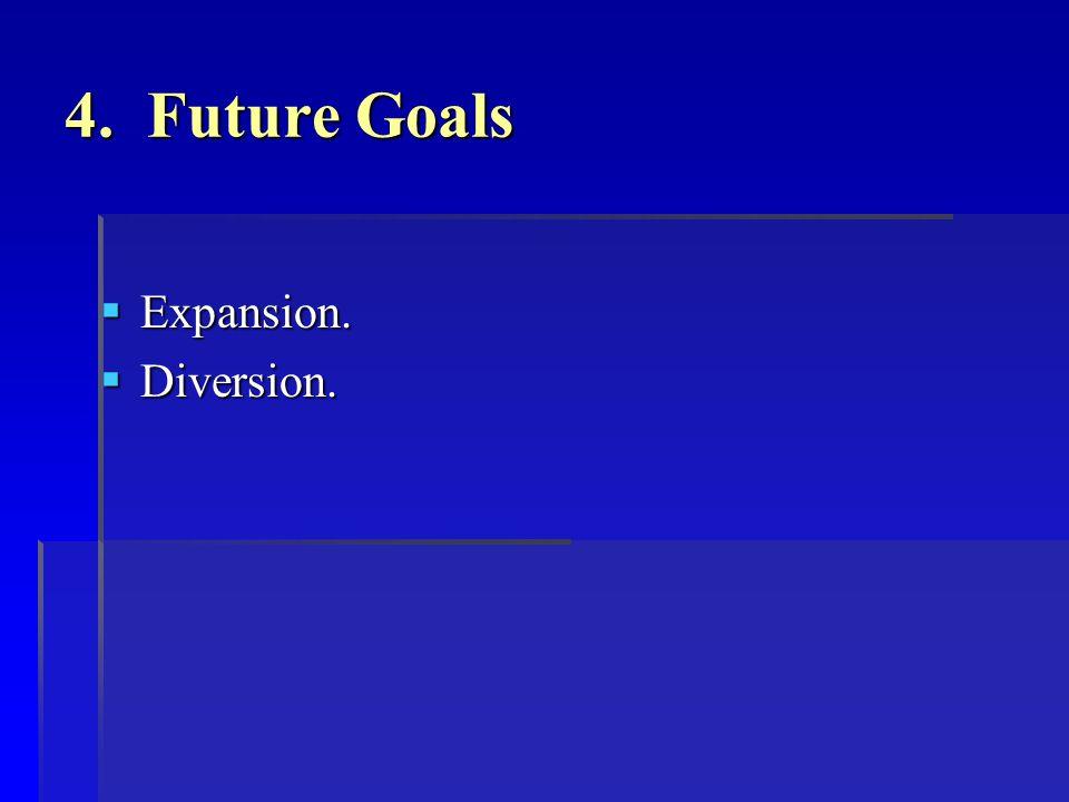 4. Future Goals  Expansion.  Diversion.