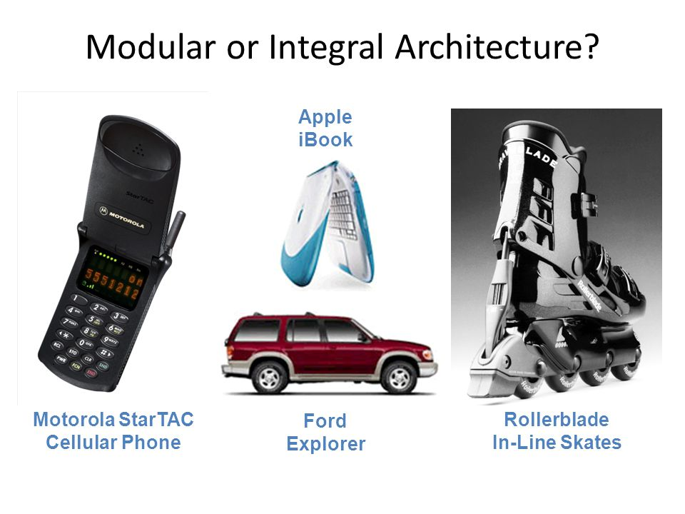 Modular or Integral Architecture.