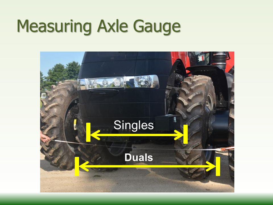 Measuring Axle Gauge Singles Duals