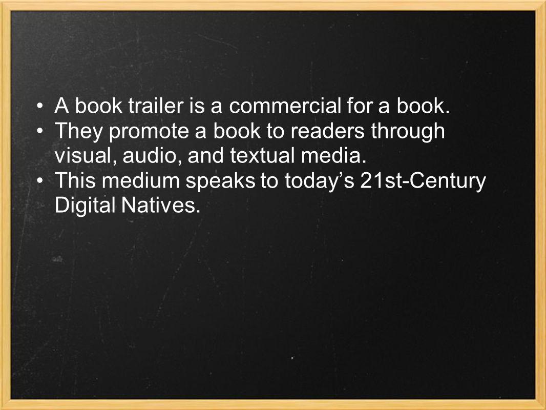 What concepts can we teach through book trailers.
