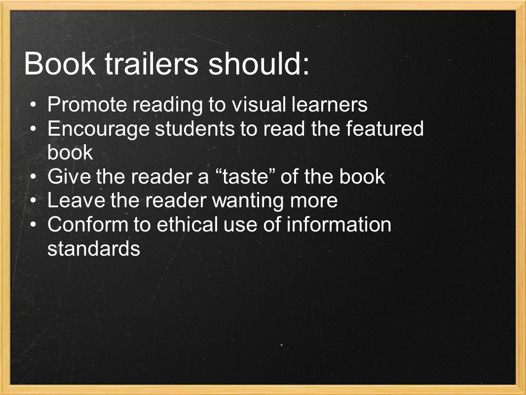 Why should educators make them.We have to sell reading to Digital Natives.
