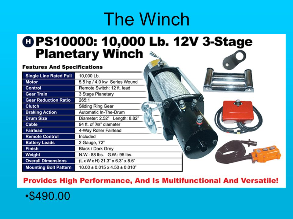 The Winch $490.00