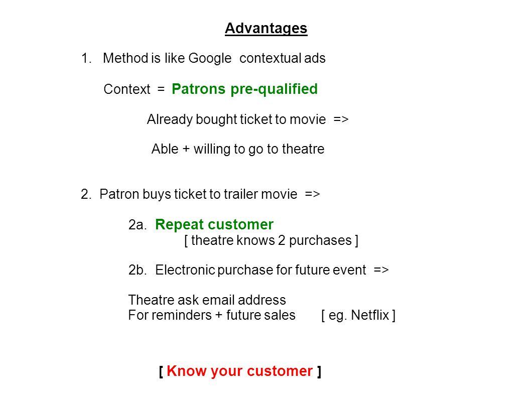Advantages 1.