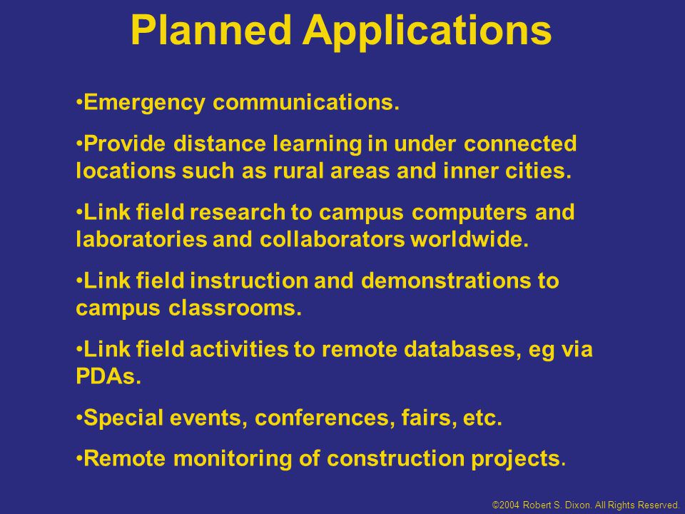 Some Actual Applications Distance Teaching and Learning Conference Madison, Wis.